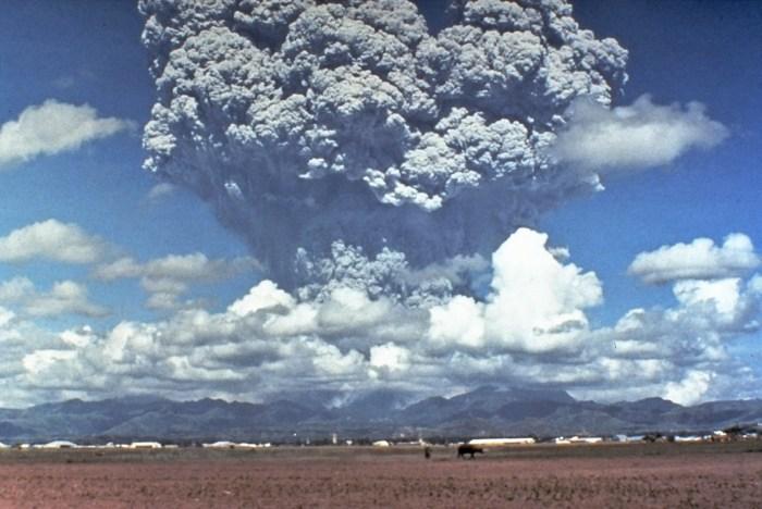 Der Ausbruch des Mount Pinatubo.